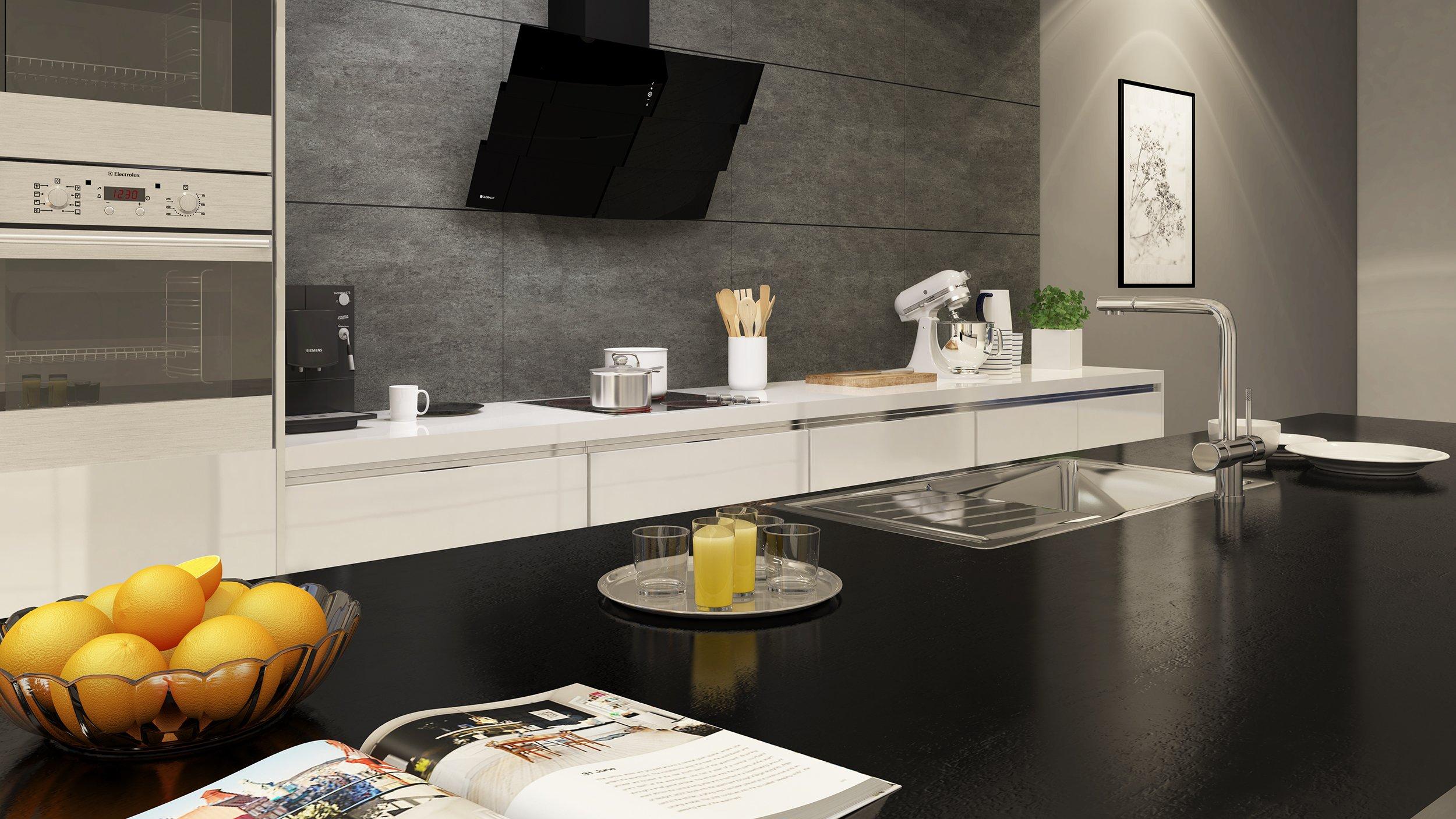 Inspiracje GLOBALO otwarta kuchnia w eleganckim stylu -> Inspiracje Kuchni Nowoczesnych