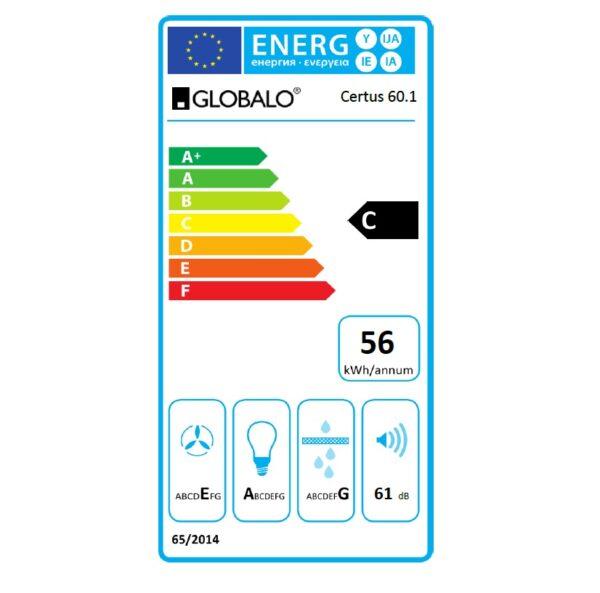 Etykieta energetyczna Certus 60.1 Black Eko Max