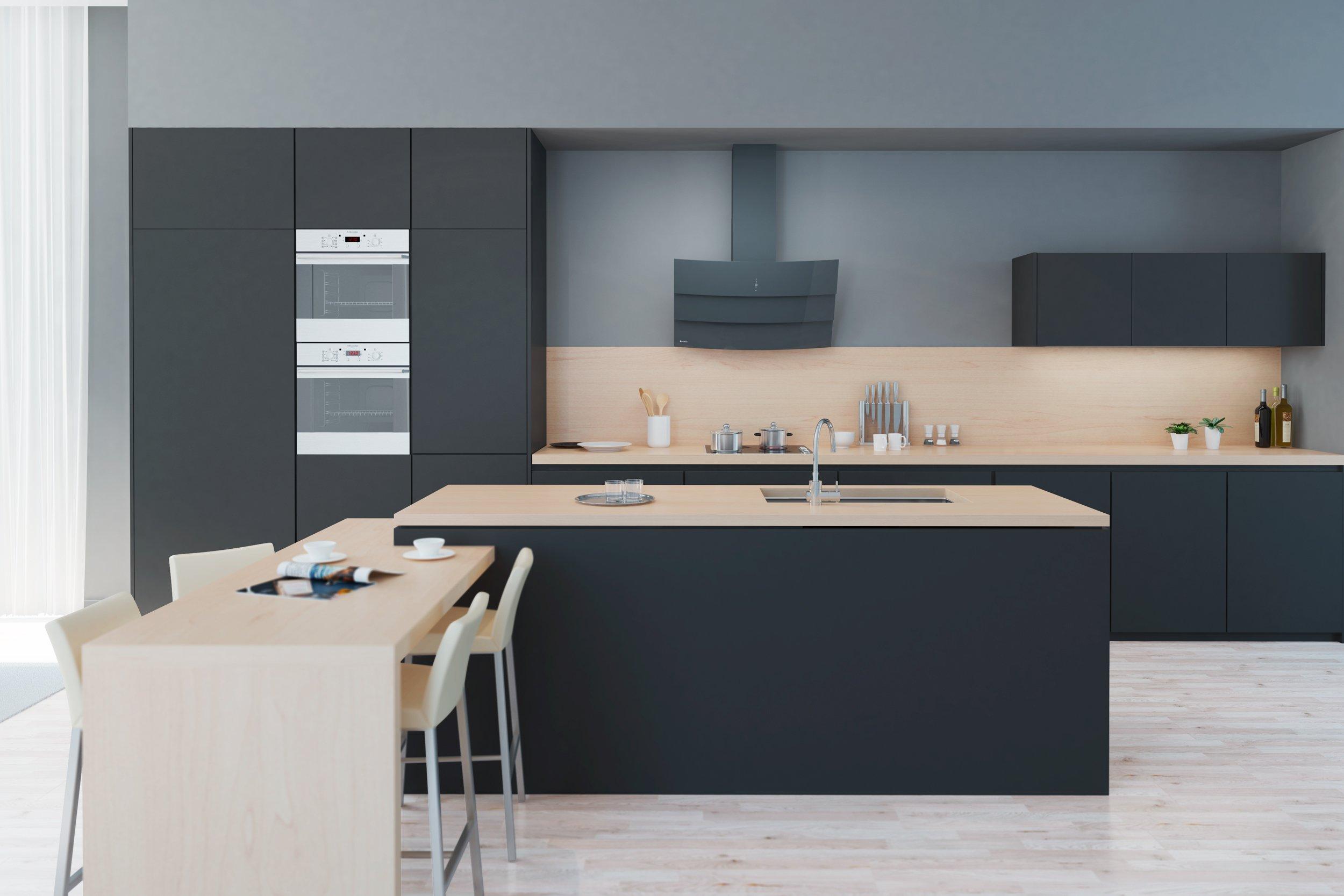 GLOBALO Vintio Grey  oczyszczanie kuchni w eleganckiej i   -> Okap Nad Kuchnia