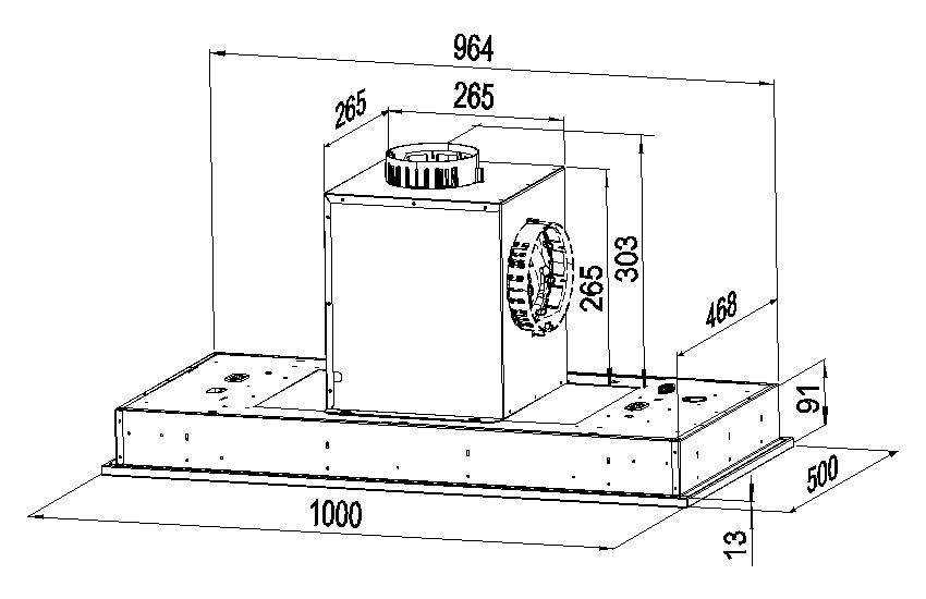 Rysunek-techniczny-okapu-GLOBALO-LIVENO-100-2-EKO-MAX-2