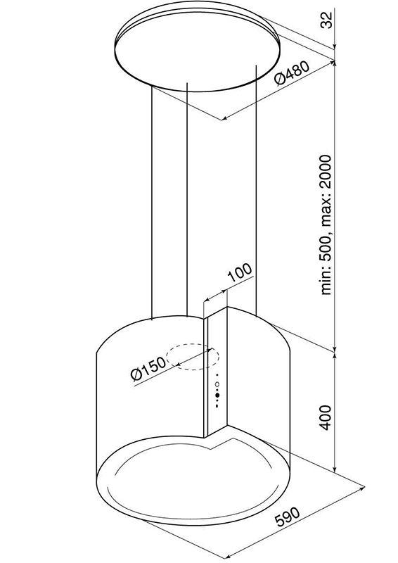 okap-kuchenny-wyspowy-serina-60-3-white-rysunek-techniczny-globalo-pl-2