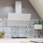Okap kuchenny przyścienny skośny Globalo Mirida 90 white