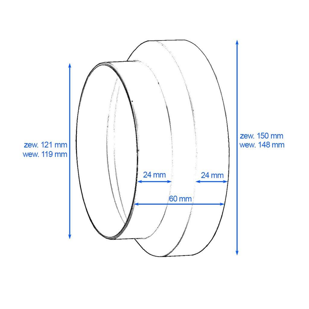 Redukcja-okragla-DOMUS-15-125-cm-kod-118-rysunek-techniczny-globalo-pl