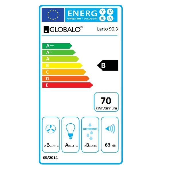 okap-kuchenny-przyscienny-skosny-Larto-90-3-Black-globalo-pl-etykieta-energetyczna