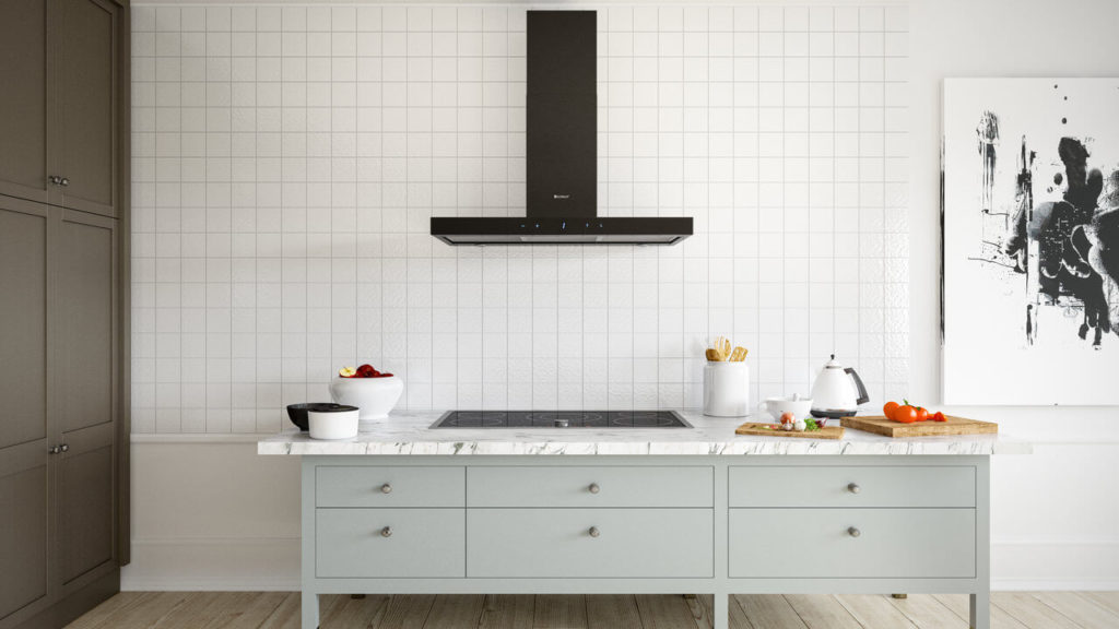 Okap kuchenny Verta 90.1 Black