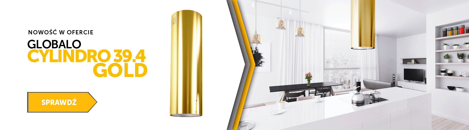 GLOBALO cylindro gold